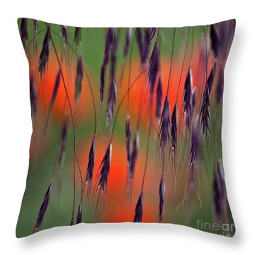 In The Meadow Throw Pillow by Heiko Koehrer-Wagner