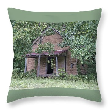 In The Middle Of Nowhere Throw Pillow by Ann Horn