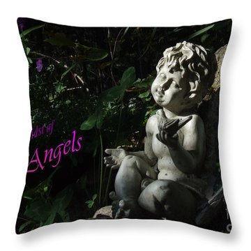 in the midst of Angels Throw Pillow
