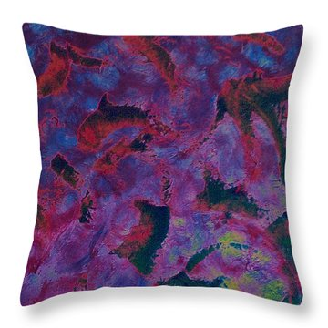 Throw Pillow featuring the painting In The Mind's Eye by Jacqueline McReynolds