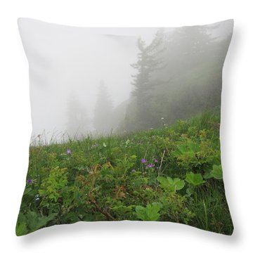 Throw Pillow featuring the photograph In The Mist - 1 by Pema Hou
