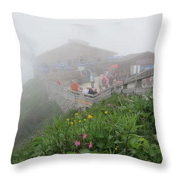 Throw Pillow featuring the photograph In The Mist by Pema Hou