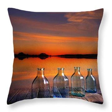 In The Morning At 4.33 Throw Pillow by Veikko Suikkanen