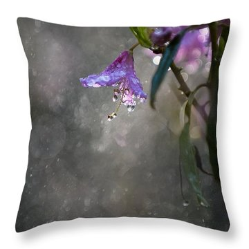 In The Morning Rain Throw Pillow