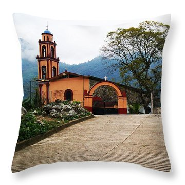 In The Mountains Of Mexico Throw Pillow by Joy Nichols