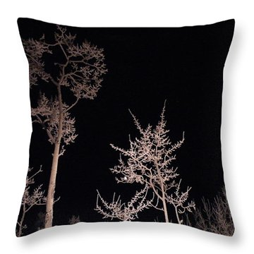 Throw Pillow featuring the photograph In The Night Garden by Brian Boyle