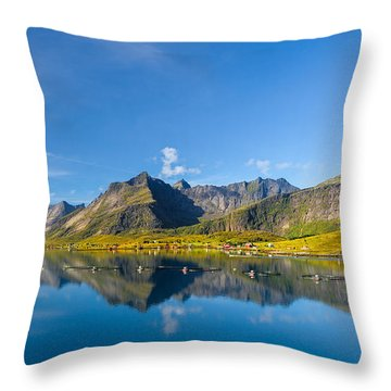 In The North Throw Pillow by Maciej Markiewicz