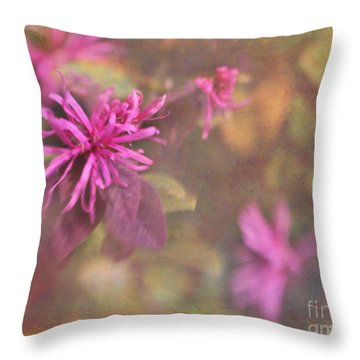 In The Pink Throw Pillow by Judi Bagwell