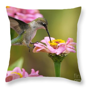 Throw Pillow featuring the photograph In The Pink by Olivia Hardwicke