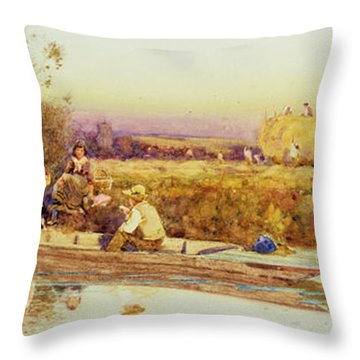 In The Punt Throw Pillow by Thomas James Lloyd