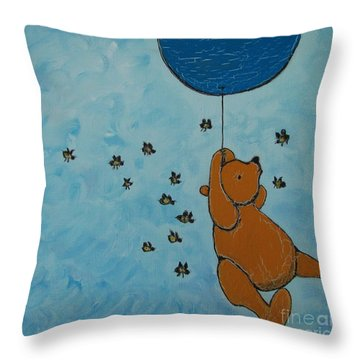 In The Pursuit Of Honey Throw Pillow