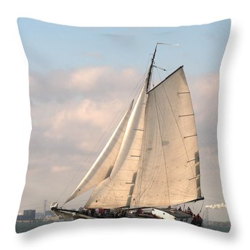 In The Race Throw Pillow