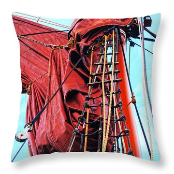 In The Rigging Throw Pillow