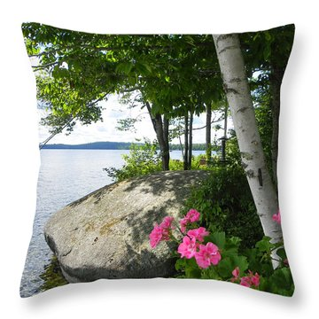 In The Shade Of The Birches Throw Pillow