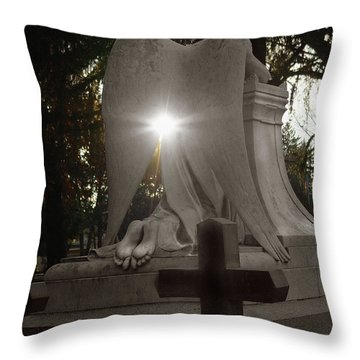 In The Shadow Of His Light Throw Pillow by Peter Piatt