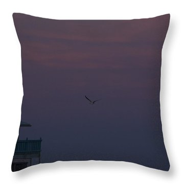 In The Still Of Dusk Throw Pillow by Nancy Dinsmore