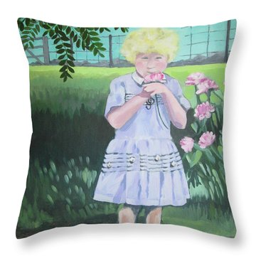 In The Summer Shade Of The Locust Throw Pillow