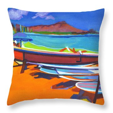 In The Summertime Throw Pillow