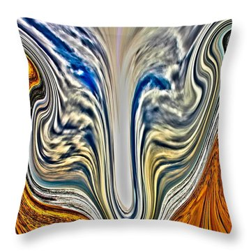 Throw Pillow featuring the photograph In The Swim by Nick David