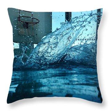 In The Swimmingpool Throw Pillow