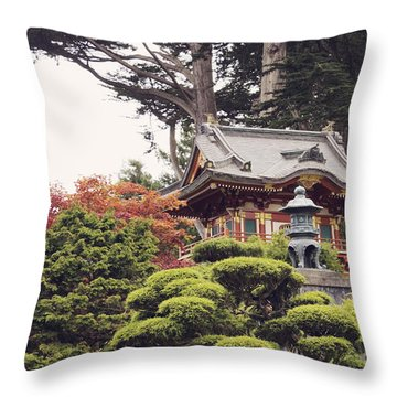 In The Tea Garden Throw Pillow
