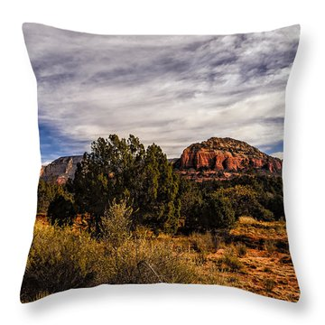 In The Valley Below Throw Pillow