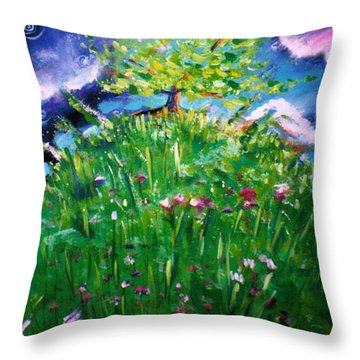 In The Valley Of My Creator Throw Pillow