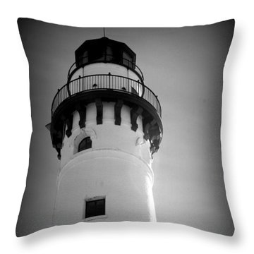In The Village Of Wind Point Throw Pillow