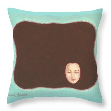 In The Void Throw Pillow by Judith Grzimek