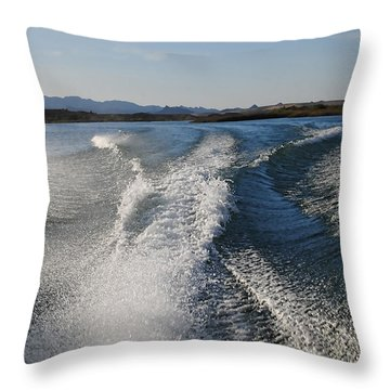 In The Wake Of Lake Havasu Az  Throw Pillow