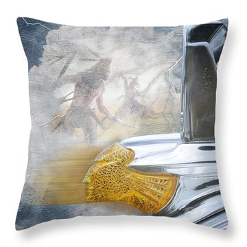 In The Wind Throw Pillow by Davina Washington
