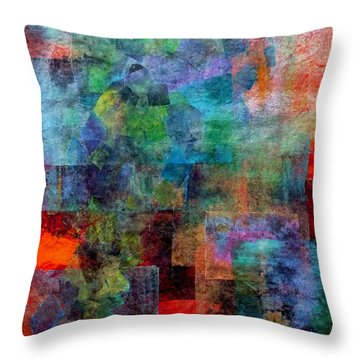 In The Wind Throw Pillow by Jim Whalen