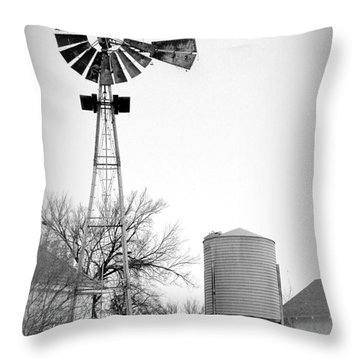 In The Windmills Of Your Mind Throw Pillow by Kathy  White