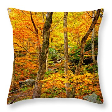 In The Woods Throw Pillow by Bill Howard