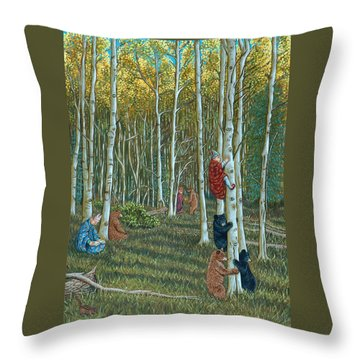 In The Woods Throw Pillow by Holly Wood