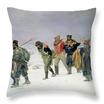 In The Year Of 1812, 1874 Oil On Canvas Throw Pillow