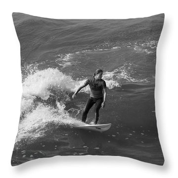 In The Zone  Throw Pillow by Tom Kelly