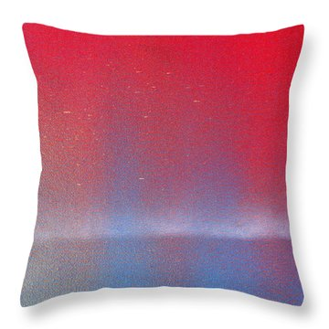 Throw Pillow featuring the painting In This Twilight by Roz Abellera Art