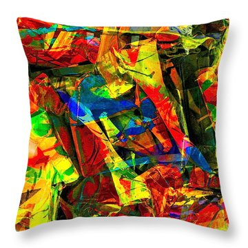 In Times Of Stress ... Throw Pillow by Gwyn Newcombe