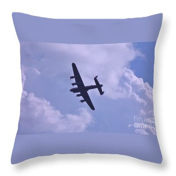 Throw Pillow featuring the photograph In To The Clouds by John Williams