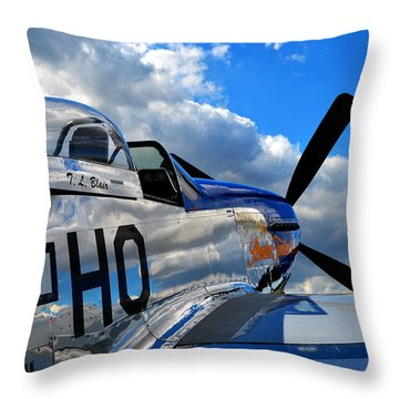 In To The Wild Blue Throw Pillow