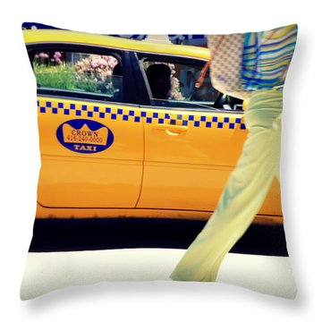 In Yellow Throw Pillow by Valentino Visentini