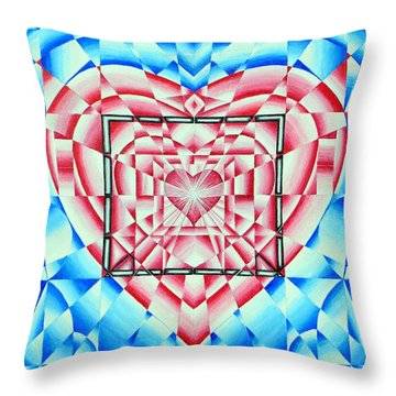 Throw Pillow featuring the painting In Your Heart Of Hearts by Joseph J Stevens