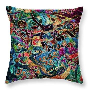 Inbetween Realms  Throw Pillow by Expressionistart studio Priscilla Batzell