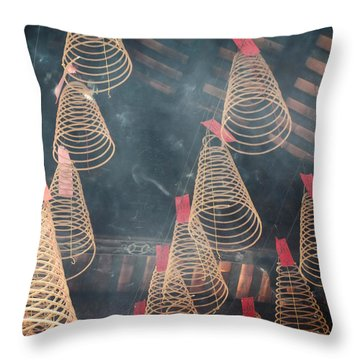 Throw Pillow featuring the photograph Incense Coils by Lucinda Walter