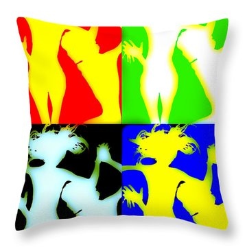 Incontro 3 Throw Pillow by Victor Minca