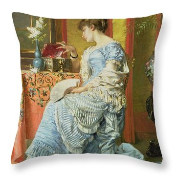 Indecision Throw Pillow by A Stevens