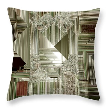 Throw Pillow featuring the painting Indecision I by RC deWinter