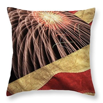 Independence Day  Throw Pillow by Lanjee Chee
