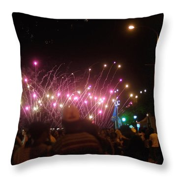 Independence Day Week Fireworks  Throw Pillow